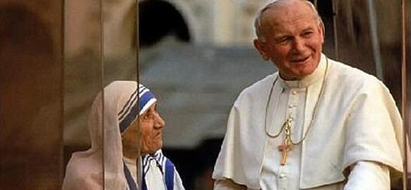 définition culture de vie. Jean-paul II et mère Téresa